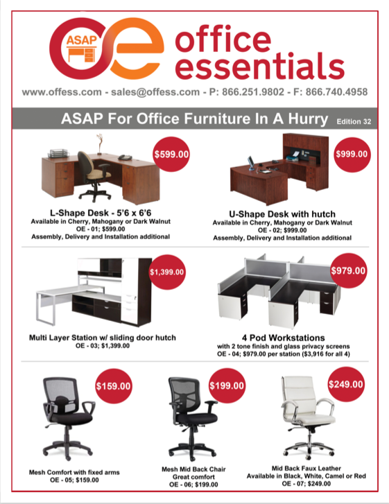 quick ship office furniture