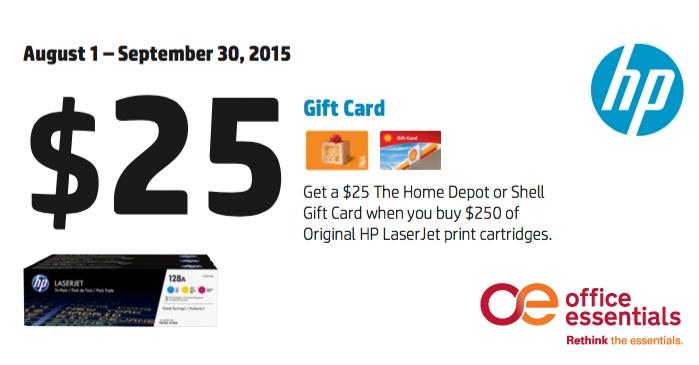 HP Toner Promotion Office Essentials Q3 2015