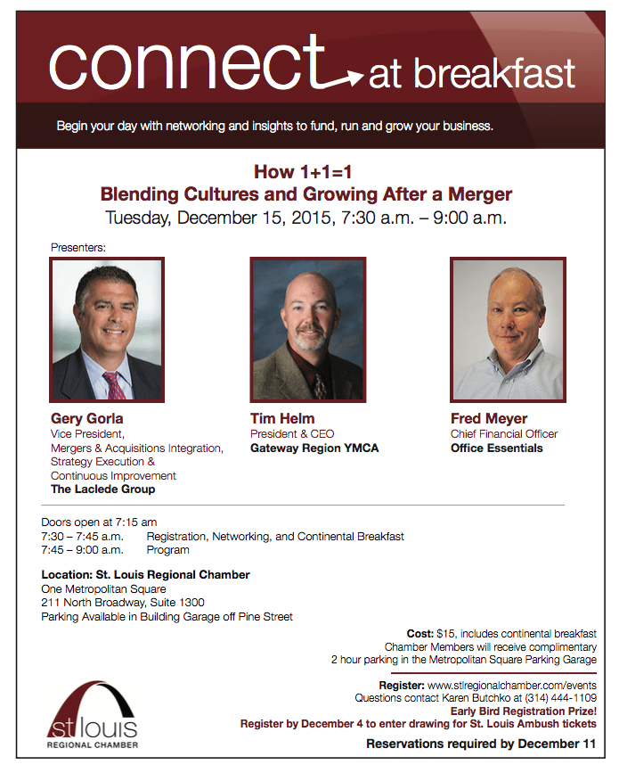 Come Talk Mergers and Office Culture With Us And The St. Louis Regional Chamber