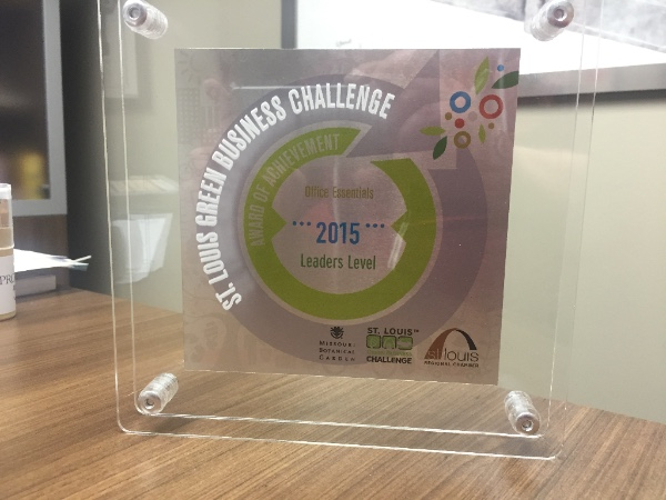 St. Louis Green Business Challenge Award of Achievement