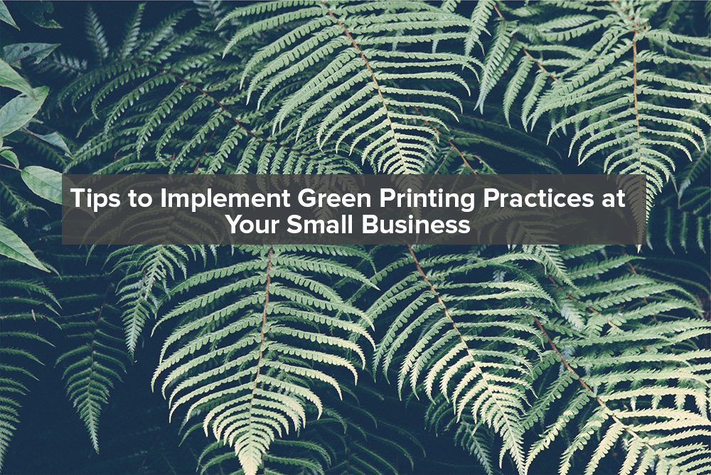 Tips to Implement Green Printing Practices in Your Small Business