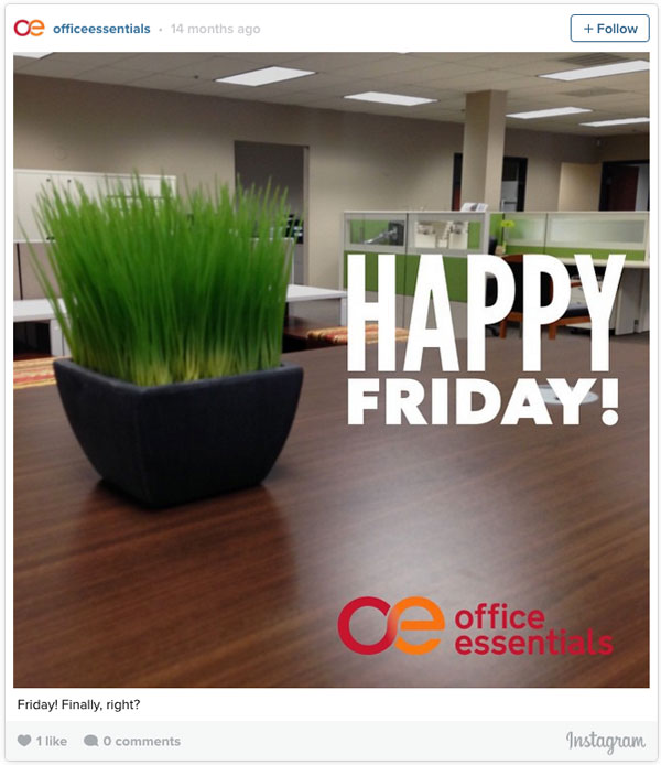 Happy Friday | Office Essentials Instagram