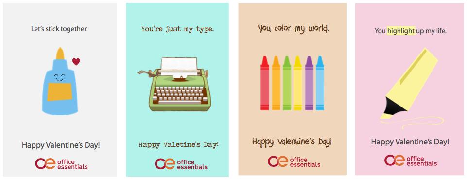 Office Supply Valentines