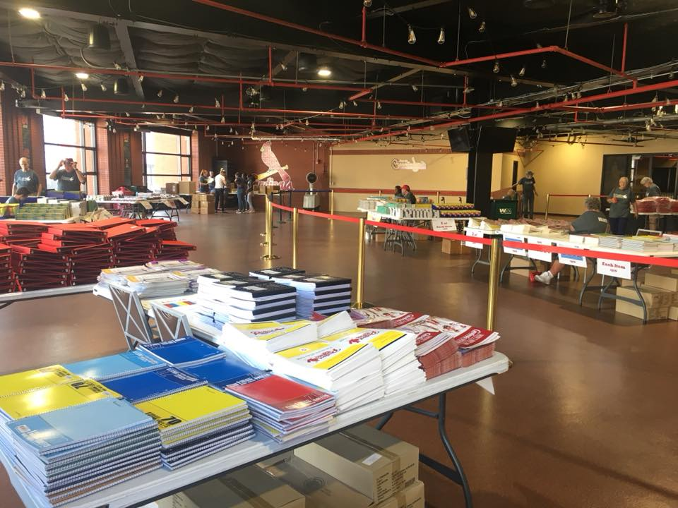 Office Essentials Helps Cardinals Care Distribute School Supplies